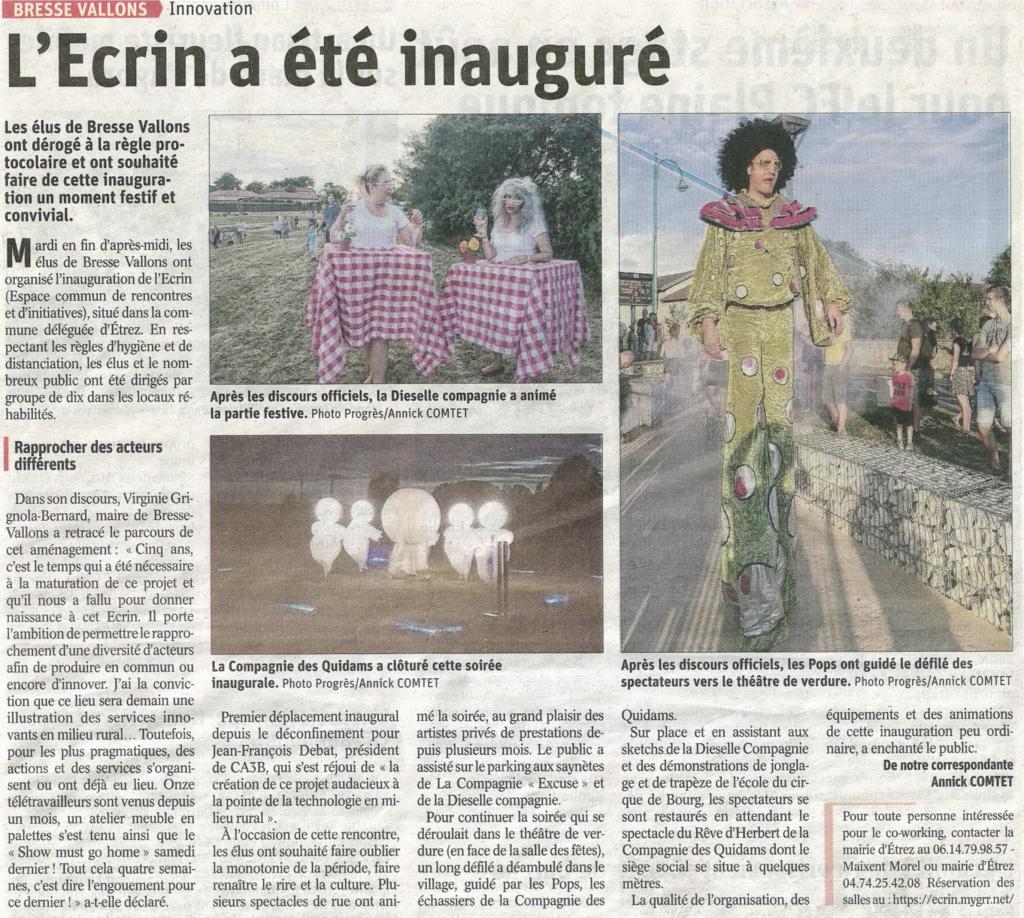 article inauguration L'Ecrin