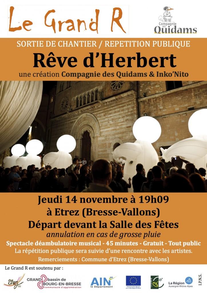 affiche répétition publique Rêve d'Herbert