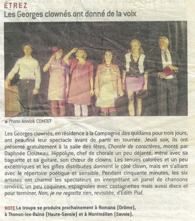 article Georges Clownés Etrez